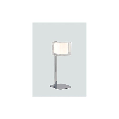Fan Europe lámpara de mesa con tulipa Cubico G9, 53 W, cromo, 32 x ...