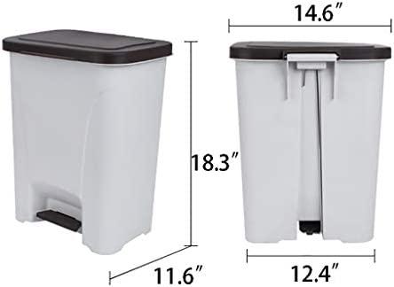 TRASH CAN Caja del Pedal compostador Gris de 25 l, cesto de Papel ...
