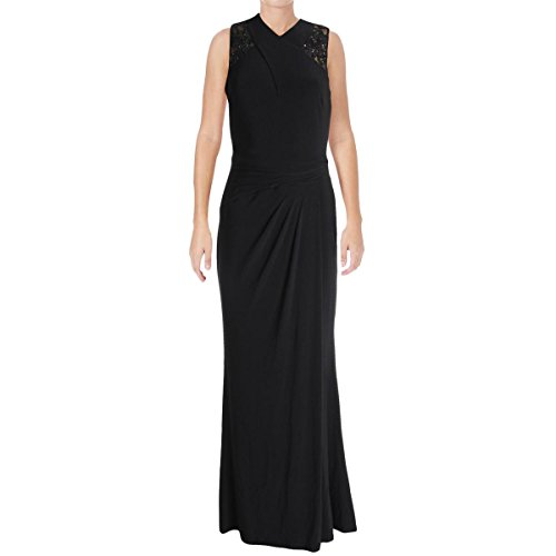 Lauren Ralph Lauren Womens Isara Sequined Sleeveless Evening Dress Black 2 Ralph Lauren Wedding
