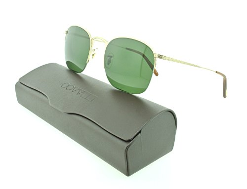 Oliver Peoples Unisex Rickman Brushed Gold/Green - Oliver Pads Nose Peoples