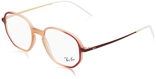 Ray-Ban Unisex 0RX7152 Rubber Pink On/Top Bordeaux One Size (Rayban Goggle)