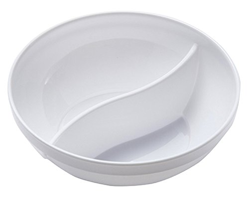WNA APT2COMPBWL4WAM 25 Count Petites 2 Compartment Bowls, 4 oz, White (Tigers Ceramic Chip)