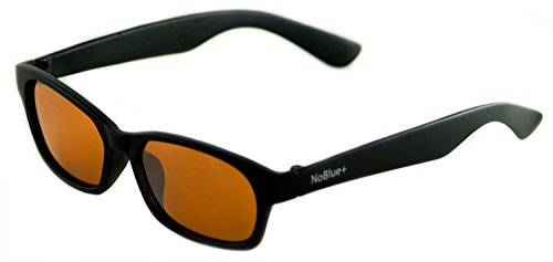Blue Light Blocking Glasses Amber Tinted Lens Anti-Glare Blocks 99% of Blue/UV Rays (includes