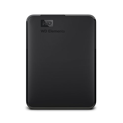 WD 5TB Elements Portable External Hard Drive, USB 3.0 – WDBU6Y0050BBK-WESN