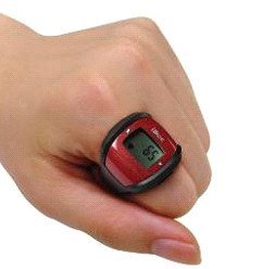 Pulse Heart Rate Monitor Ring with Clock- Colour Blue