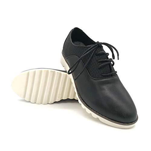Pois Bateau Hiver Sneakers Chaussures Chaussure Innerternet Lacets Tête Plateforme Ankle Baskets Mode En Plate Noir Femme Boots De Rétro Talon Bouch Daim Compensé CqRpHCw