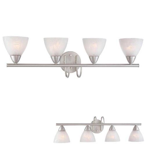 4 Globe Bathroom Vanity Light Bath Bar Lighting Fixture, Brushed Nickel