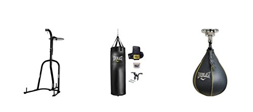 Everlast Dual-Station Heavy Bag Stand with 70-lb. Heavy Bag Kit and Speedbag by Everlast