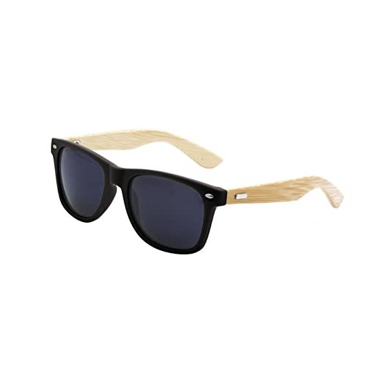 LogoLenses Men's Bamboo Wood Arms Classic Sunglasses 1 <p>Vintage inspired unique bamboo arms sunglasses with real bamboo wood temples. These sunglasses feature UV400 rated sunglasses lenses, absorbing over 99% of harmful UVA and UVB spectrums. Temples Made from Real Bamboo Wood 100% Protection Against Harmful UVA/UVB Rays Strong and durable</p>