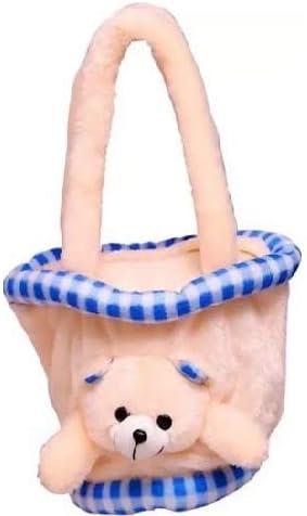 PRACHI TOYS Hand Bag Soft Toy Plush Kids Birthday Gift (Cream)