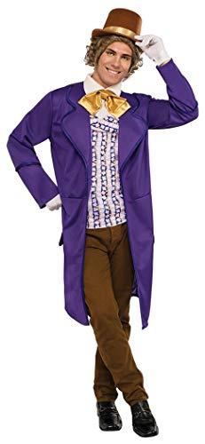 Rubie's Men's Wonka & The Chocolate Factory Deluxe Willy Wonka Costume, Multi, Standard -