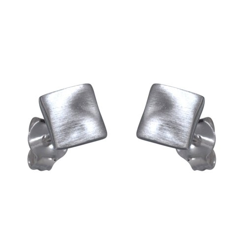 VINANI Ohrstecker Viereck mattiert Sterling Silber 925 Ohrringe Quadrat OVM