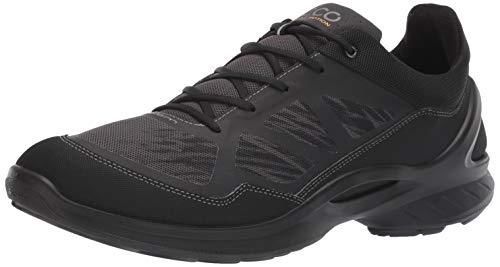 ECCO Men's Biom Fjuel Racer Running Shoe, Black/Dark Shadow, 44 M EU (10-10.5 -