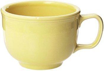 - Fiesta Retired Pale Yellow Jumbo Mug, 18 oz.