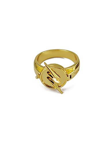 crazycatcos Cosplay Ring Lightning Logo Prop Alloy Ring (Reverse Flash)