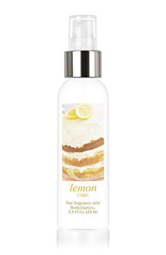 - Lemon Cake Perfume Fine Fragrance Mist by Body Exotics 3.5 Fl Oz 103 Ml ~ the Irresistible Scent of Freshly Baked Lemon Layer Cake with Lemon Buttercream Icing and Lemon Zest