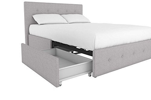 Amazon.com: DHP Rose Upholstered Platform Bed With Under