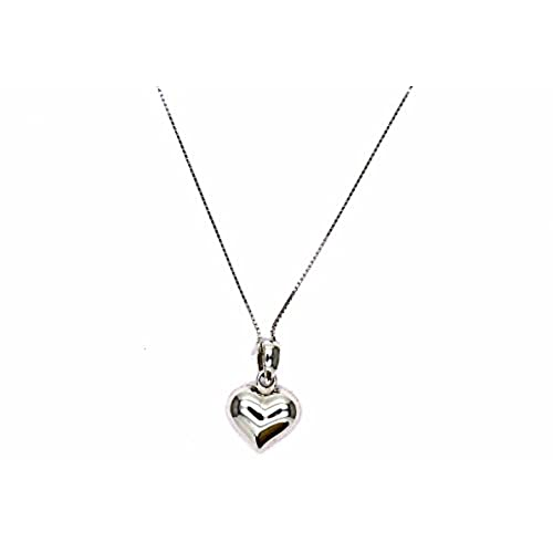 f262c5f2230d Pegaso Joyería – Collar oro blanco 18 kt Veneta pequeño colgante corazón  pulido – Cadena Corazón