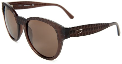 Diesel DL00455448E Round Sunglasses,Brown,54 mm