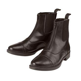 Dover Saddlery Riding Sport Ladies' Provenance Zip Paddock Boots, Size 7, Chocolate Brown