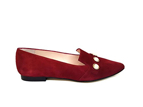 Flats Women´s Ballet Yecla Leather Leather Vicky Ballerina Garnet Red Suede GENNIA nPxqCX5
