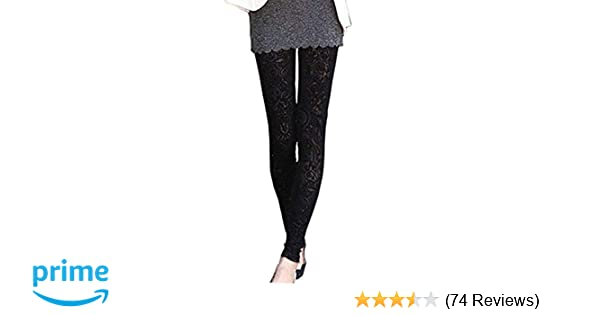 7fed3749ffb5c Pinbo Women Vintage Velvet Flower Skinny Lace Hipster Punk Sheer Legging  Pants (Black) at Amazon Women's Clothing store:
