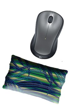 Price comparison product image Ergonomic Mouse Wrist Rest Pad Handmade by Candi Andi - Desktop | Laptop - Flax Seed Filled - Colorful Satin Brocade and Crushed Velvet - Lavender Scented or Unscented - Jungle Stripe - TMPSL-JS