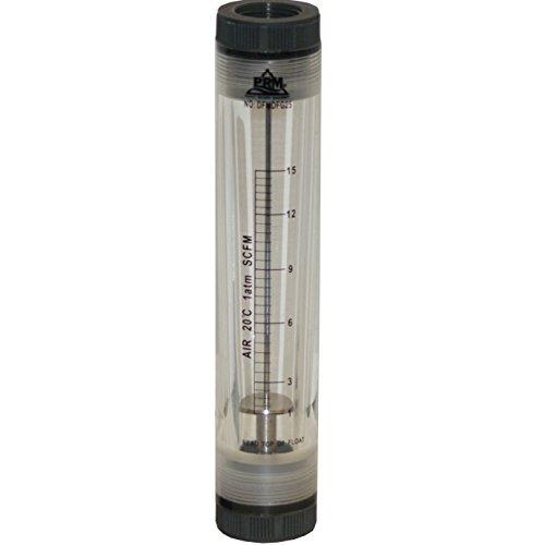 PRM 1-15 SCFM Rotameter Air Flow Meter, 1 Inch