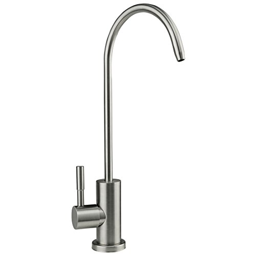 HOMY Drinking Water Faucet, Stainless Steel Single Handle Beverage Purifier Faucet for Kitchen undersink Filters and Filtration Systems, 1/4-Inch Tube