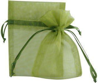 "3O Moss Green Color Flat Organza Wedding Party Favor Sheer 3/""x 4/"" Bags"