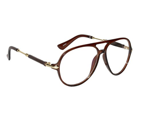 657a49fde8 Peter Jones Classic Brown Aviator Unisex Optical Frame (RX957BW)  Amazon.in   Clothing   Accessories