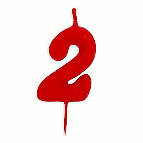 Desconocido Vela Cumpleaños Infantiles Numero 2: Amazon.es ...
