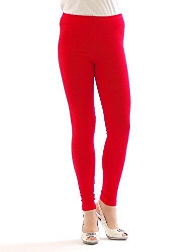 YESET Femme Legging longueur longues caleçons en coton ROUGE XL