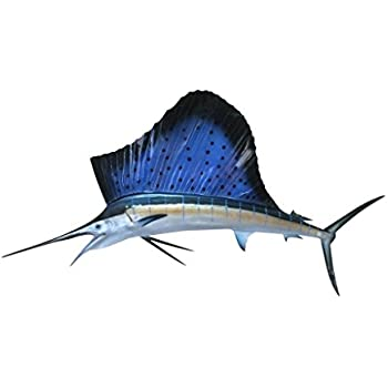 Sailfish Half Mount Fish Replicas - Different Sizes - Made for Indoors on