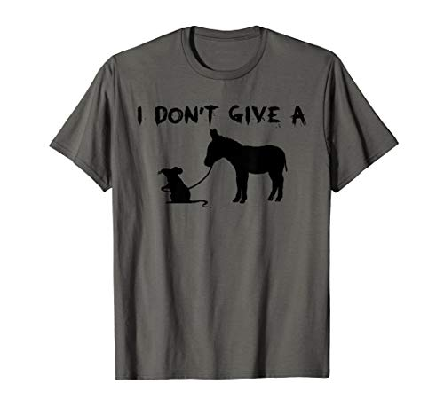 I Don't Give A Rats Ass Mouse Walking Donkey Gift Premium - Yellow Donkey T-shirt