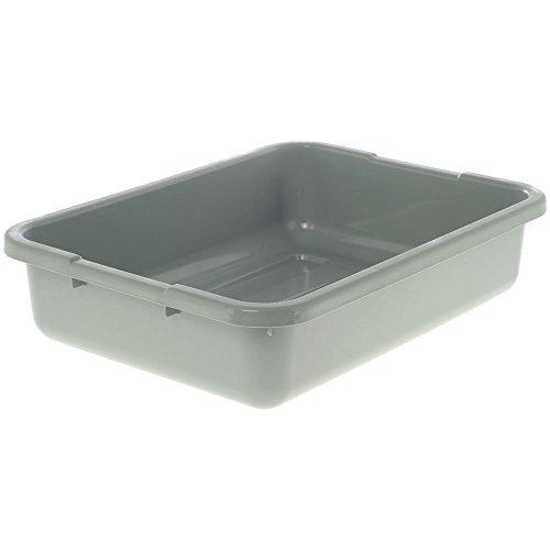 Plastic Gloss Bus Box (Cambro Utility Box 15 Inch x 21 Inch x 7 Inch Gray)