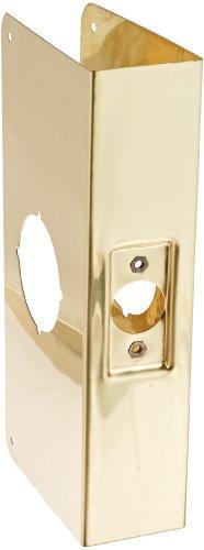 Brass Wrap Around Plate (Don-Jo 200C-CW 22 Gauge Stainless Steel Wrap-Around Plate, Polished Brass Finish, 4-1/4