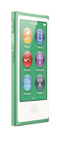LATEST MODEL Apple Ipod Nano 7th Generation 16 GB Green With Generic White Earpods and A USB Data Cable (Non Retail Packaged in a Brown (Aac Ipod Touch)