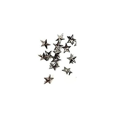 50 Pcs Star Studs Metal Claw Beads Nailhead Punk Rivets with Spikes (Gun Metal/Black, 10 Mm)