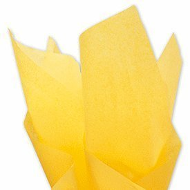 Buttercup Yellow Gift Tissue Paper 20'' X 30'' - 48 Sheet by Premium Quality Wrapping Tissue