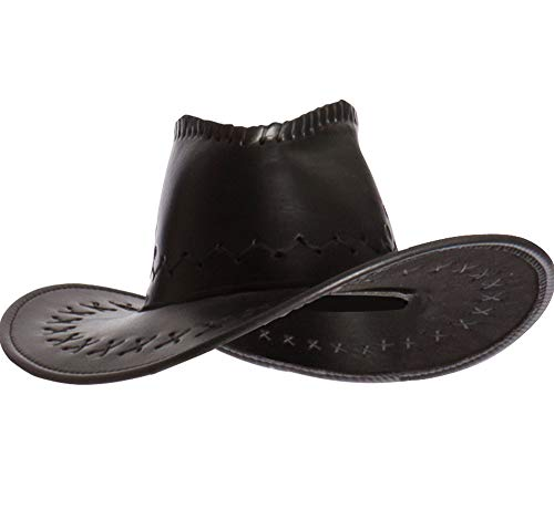 AMSCAN Faux Leather Cowboy Hat Halloween Costume Accessories,