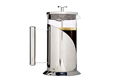 Cafe Du Chateau French Press, Top Grade 304 Stainless Steel, Double Screen Filter, Boiling-Water Tolerant Glass