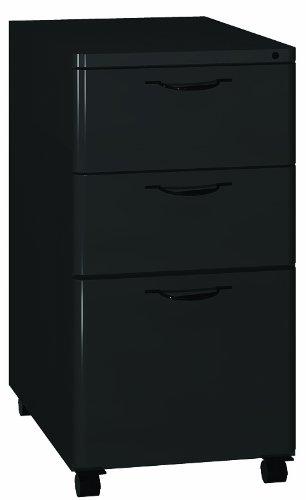Ironwood Box/Box/File Mobile Pedestal Desk, Black (MPEDBK)