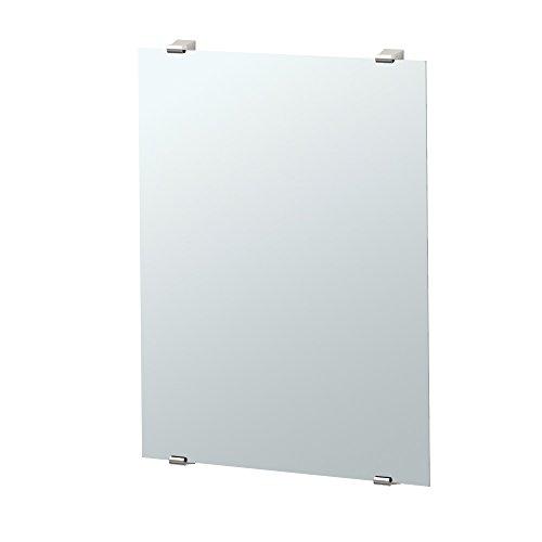 Gatco Bleu minimalista espejo de pared, Sin marco, Less than 20 inches, Níquel Satinado