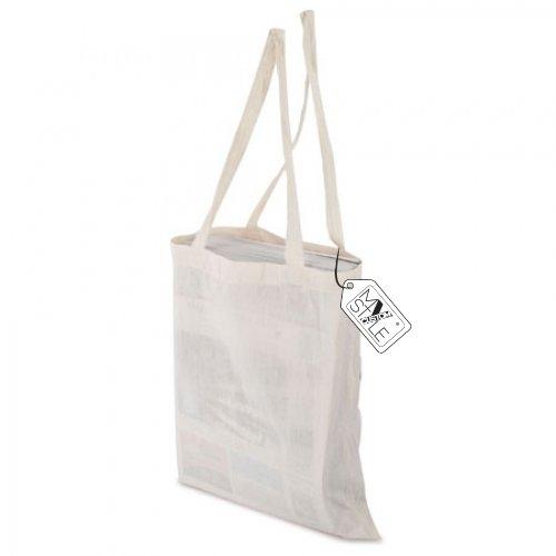 My Custom Style® Shopper aus Baumwolle natur-beige lange Griffe von Qualität My Custom Style ideal für Malerei oder für Ausdrucke digitale Format Tasche 38x 42cm. 10 shopper cotone