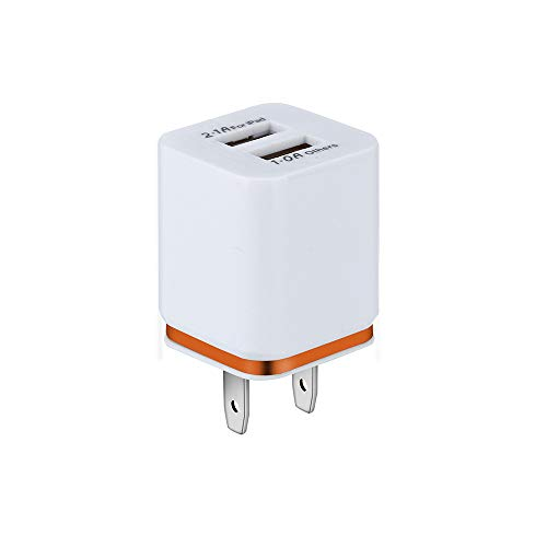 Puxiaoa USB Charging Box, Charger Adapter,Dual Port Fast Charge Plug Cube Base Replacement for iPhone X/8/7/6S/6S Plus/6, Samsung Galaxy S7/S6/S5 Edge, LG, HTC, Huawei, Moto, Kindle Orange