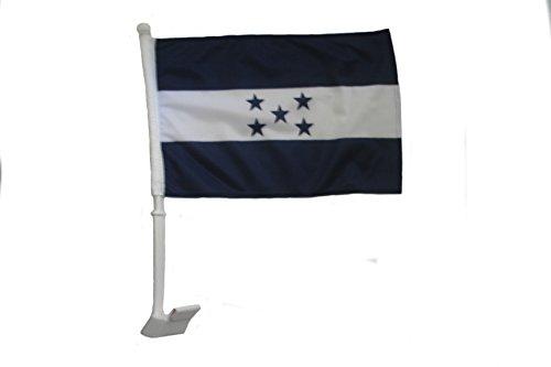 Honduras Flag Car (Honduras Country Flag .. Heavy Duty Car Stick Flag 12