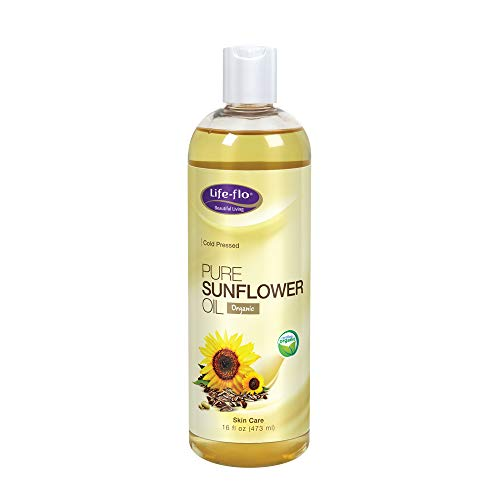 Life-Flo Pure Sunflower Oil, Certified Organic | Complexion & Body Moisturizer & Massage Oil | 16 Fl Oz