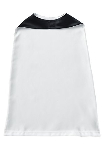(Rabbit Skins Toddler 100% Satin Polyester Reversible Cape (White/Black, One Size Fits All))