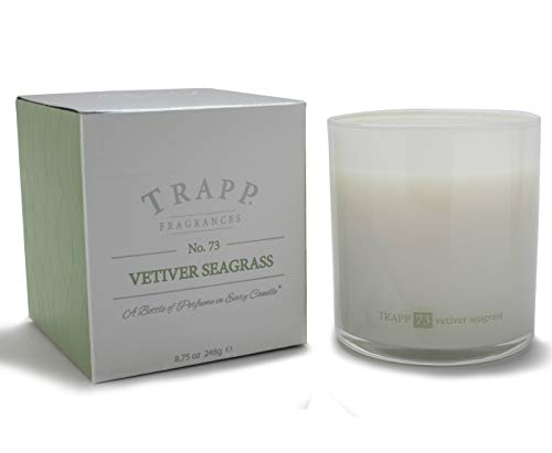 Trapp Ambiance Collection Poured Scented Candle, 8.75 Ounces - No. 73 Vetiver Seagrass